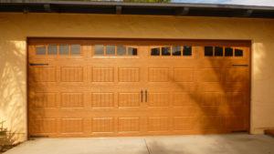 Amarr Oak Summit light stain Steel Door