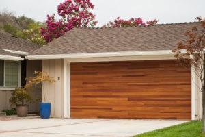 Planks Cedar Steel Door