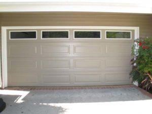 Sandstone/Taupe Long Panel Plainlite Windows White Frame