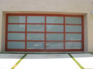 Powdercoated Glass Garage Door