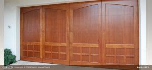 Double Arch Mahogany Wood Door
