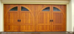 Wood Door Double Arch