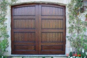 Wire Brushed V-Groove Wood Door