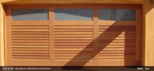 RHD wood Garage Door 245 Almeria