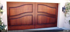 Curved Raised Panel Wood Door