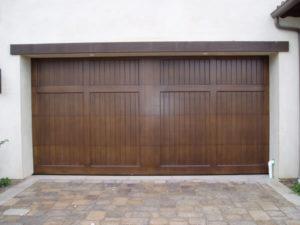 RHD Vertical planks Wood Garage Door