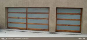 Wood Glass Garage Door 2 Across 1 Acoss
