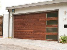 Planks Door With Stacked Windows