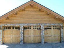 Custom Wood knotty alder Garage Door